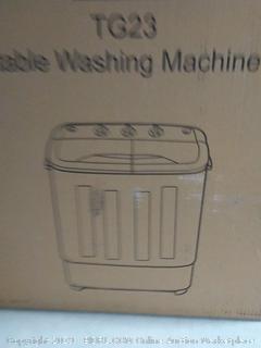 PORTABLE WASHING MACHINE TG23 Twin Tub Washer Machine box damage (online $169)
