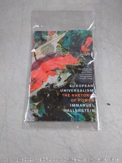 European universalism the rhetorical of Power by Immanuel wallerstein book