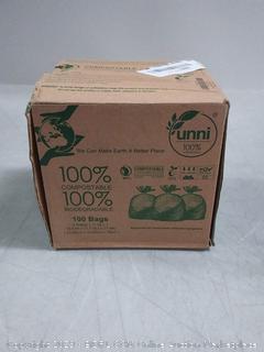 Unni 100% compostable bags 100 count 3 gallon