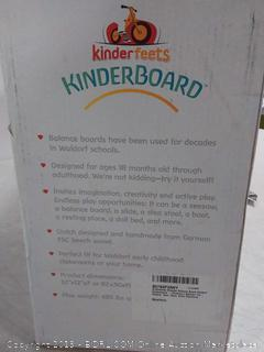 Kinderfeets Wooden Balance Board Waldorf Kinderboard - Children's Balance Toy Wobble, Spin, Rock, Slide (Rainbow)