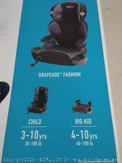 Graco AFFIX High Back Booster Seat with LATCH System, Grapeade