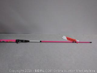 Zebco pink fishing pole parts missing