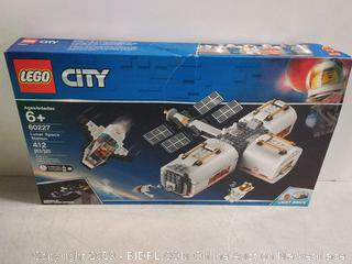 LEGO City Space Lunar Space Station 60227 Space Station Building Set with Toy Shuttle, Detachable Satellite and Astronaut Minifigures, Popular Space Gift, New 2019 (412 Pieces)