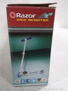 Razor A3 Folding Aluminum Kids Kick Scooter (Blue)