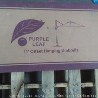 purple leaf 11 inch offset hanging umbrella