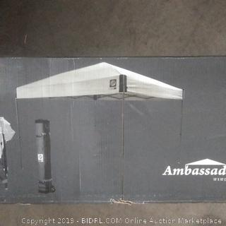 E-Z Up Canopy ambassador sets up in seconds?