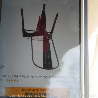 Pioneer Square metal chair set up for jet black possibly set broken