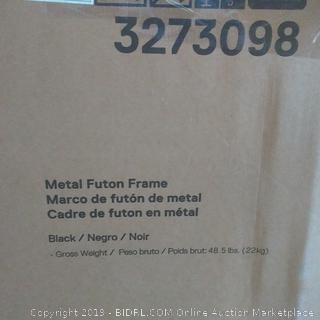 metal futon frame black