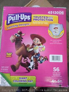 Huggies Pull-Ups Training Pants for Girls 4T-5T Toddler Potty