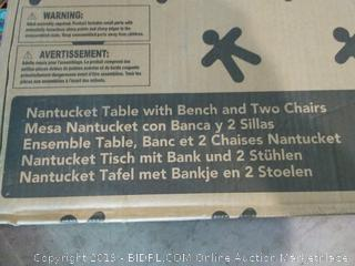 KidKraft Nantucket Table with Bench and Two Chairs Set