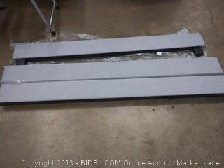 Diamond sofa La La Jolla upholstered footboard and bed rails Gray