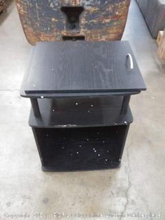 black nightstand( door broken off smash Edge few scratches)