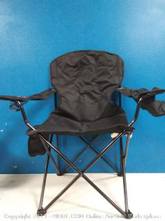 amazonbasics padded camping chair with cooler black XL
