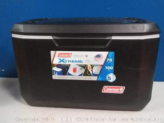 Coleman Xtreme 70 quart black and gray cooler(scratched)