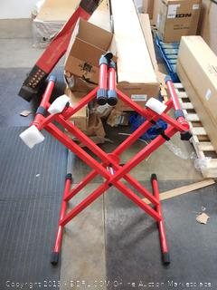 Gator Frameworks Deluxe two tier X frame keyboard stand bright red