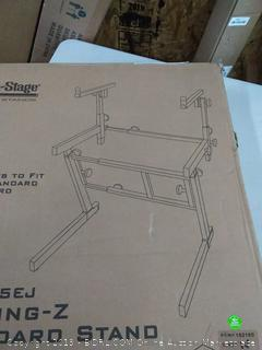 on stage folding Z keyboard stand with second-tier