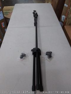 microphone stand with telescopic boom and tripod base