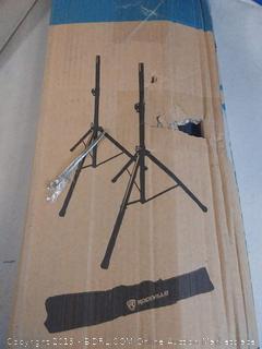Pair Rockville RVES1 Adjustable Tripod DJ PA Speaker Stands+