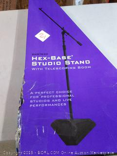 On-Stage SMS7630B Hex-Base Studio Stand with Telescoping Boom