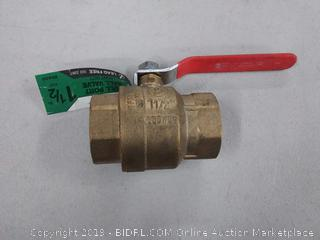 ldr 1 and 1/2 in full port ball valve lead-free