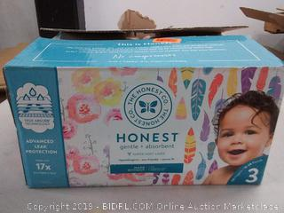 honest gentle and absorbent super soft liner diapers 16 to 28 lb