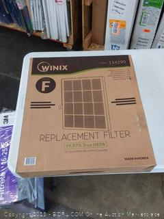 Winix 114290 Replacement Filter F, Size 25