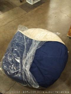 pet cave bed extra large Blue