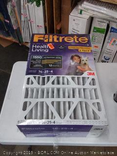 Filtrete Ultra allergen 16 x 25 x 4 filters 2 pack