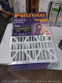 Filtrete Ultra allergen 16 x 25 x 4 filters 2 pack