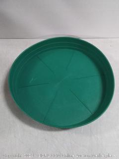 14 inch green premium saucer