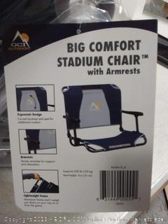 big Comfort Stadium chair with armrests (online $49)