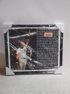 Darryl Strawberry 1996 World Series stretched story canvas