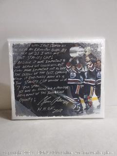 Clinton Anderson Oilers Dynasty stretched story canvas