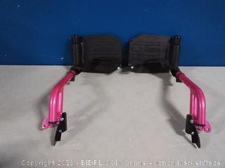pink wheelchair leg rest