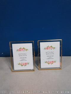 Koyal wholesale floating photo frame(6 glasses cracked)