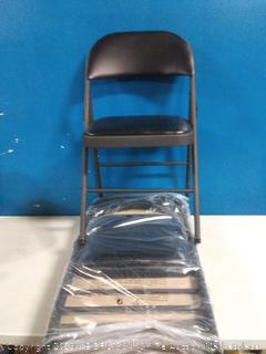Cosco vinyl folding chairs 4 pack