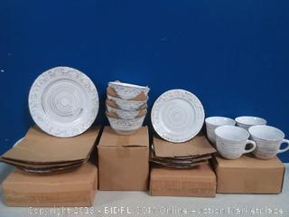 lifetime Brands 16 piece white dining Ware set