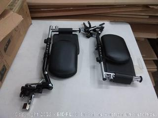 wheelchair leg and foot supports