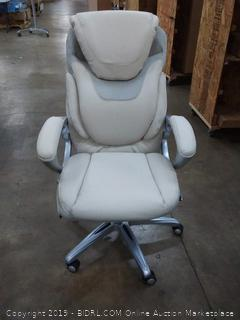 cushioned White rolling office chair