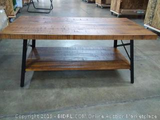 SLEEPLACE Cocktail Table/ Coffee Table, Rustic Brown 18TB01S