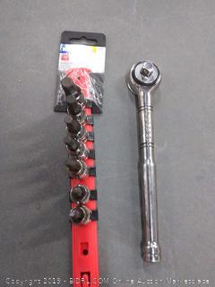 Craftsman wrench with Cobalt 7 piece hex driver socket set