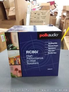 Polk Audio RC80i 2-Way In-Ceiling Speakers (Pair, White