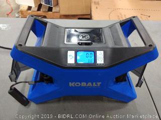 Kobalt 12v/120v inflator blue (powers on)