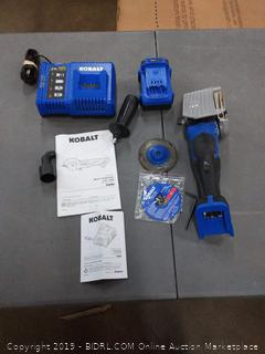 Kobalt 24v Max Brushless Multi-Purpose 4 in. Saw with battery and charger (all powers on)