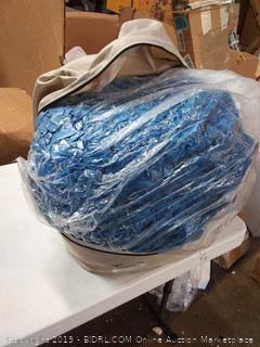large blue foam bag