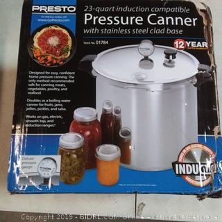 Presto pressure canner 23 Court capable sealed product possibly damage with heavy box damage