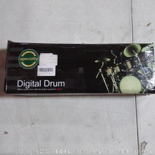 digital drum with two built-in speakers