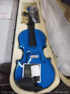 Mendini MV-Blue violin with black case