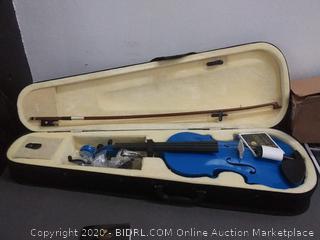 Mendini  by cecilio E string violin blue