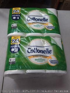Cottonelle Ultra GentleCare Bath Tissue, 12 Double Rolls 2 pack